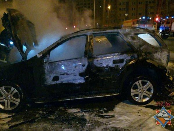 В Минске сегодня горели автомобили